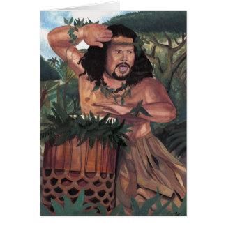 Pahu Kane Hula Kahiko Card