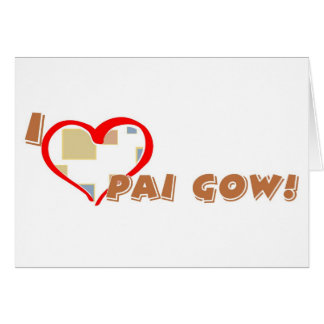 Pai Gow greeting card