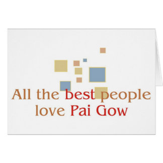 Pai Gow Lover's greetings Greeting Card