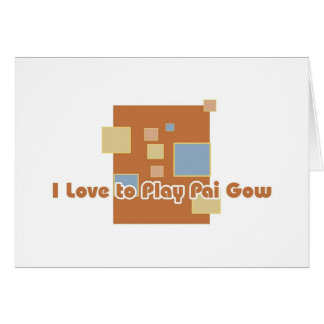 Pai Gow player's greetings Greeting Card