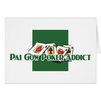 Pai Gow Poker addict's greetings Cards