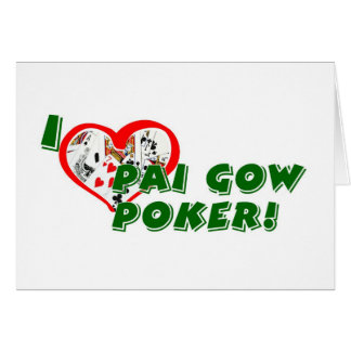 Pai Gow Poker greeting card