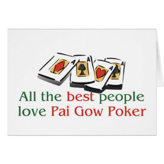 Pai Gow Poker Lover's greetings Cards