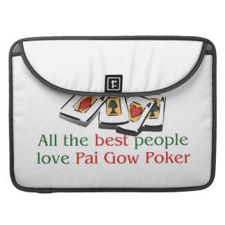 Pai Gow Poker Lover's macbook sleeves Sleeve For MacBooks
