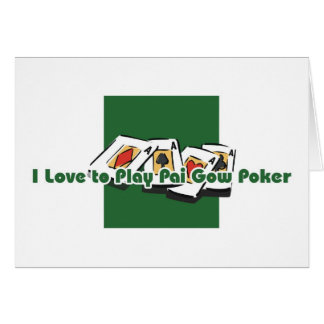Pai Gow Poker player's greetings Greeting Card