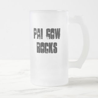 Pai Gow Rocks Frosted Glass Beer Mug