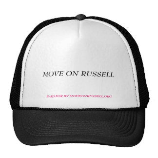 PAID FOR BY MOVEONRUSSELL,ORG, MOVE ON RUSSELL TRUCKER HAT