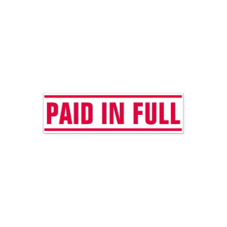 """""""PAID IN FULL"""" Between Solid Lines Self-inking Stamp"""