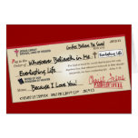 Paid in Full Saved by Jesus Check Greeting Cards