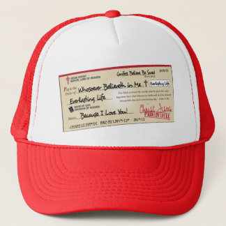 Paid in Full Saved by Jesus Check Trucker Hat
