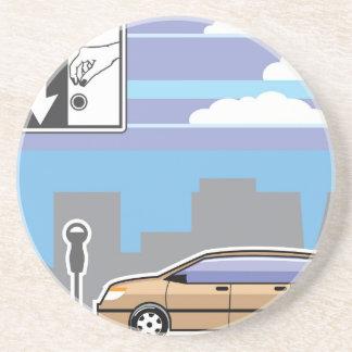 Paid Parking Meter car Vector Coaster