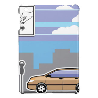 Paid Parking Meter car Vector Cover For The iPad Mini