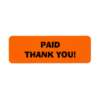 Paid Thank You  Store Tags Label