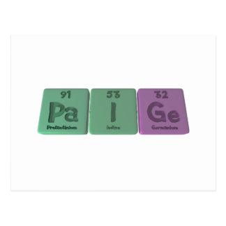 Paige as Protactinium Iodine Germanium Postcard