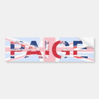 Paige Bumper Sticker
