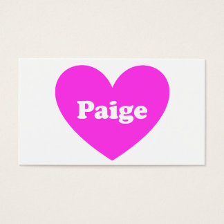 Paige Business Card
