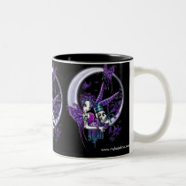 myka, jelina, paige, moon, tattoo, pin, butterfly, fairy, fae, faery, faerie, fairies, gothic, colorful, art, Mug with custom graphic design