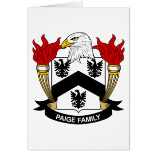 Paige Family Crest Card