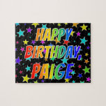 "[ Thumbnail: ""Paige"" First Name, Fun ""Happy Birthday"" Jigsaw Puzzle ]"