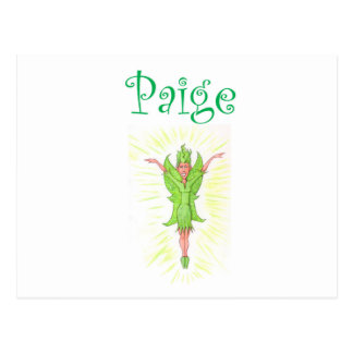 Paige is a Green Fairy Postcard