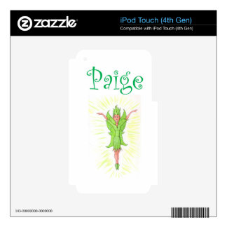 Paige is a Green Fairy Skin For iPod Touch 4G