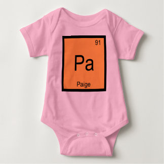 Paige Name Chemistry Element Periodic Table Baby Bodysuit