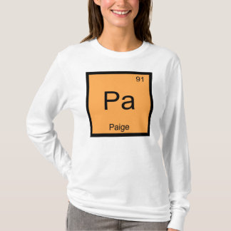 Paige Name Chemistry Element Periodic Table T-Shirt