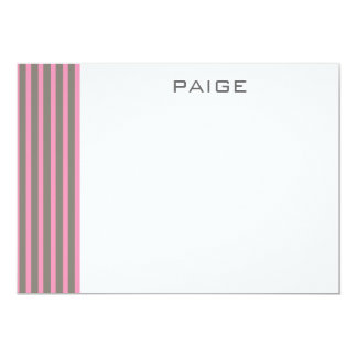 Paige -  Personalized Flat Note Card