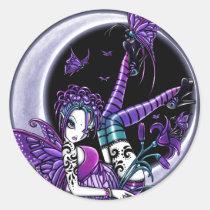 butterfly, moon, butterflies, tattoos, flower, fairy, faery, fae, faerie, fairies, fantasy, paige, myka, jelina, art, butterflies and moths, Sticker with custom graphic design