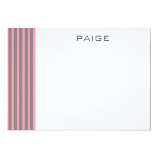 """Paige - tarjeta de nota plana personalizada invitación 5"""" x 7"""""""