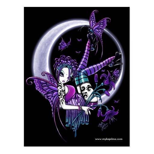 Paige Tattoo Moon Flower Fairy Postcard