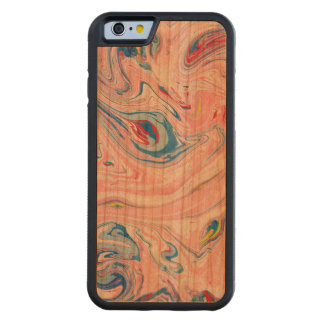 Pail Colors Marble Swirls Carved Cherry iPhone 6 Bumper Case