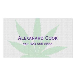 Pail Green Medical Leaf Business Card