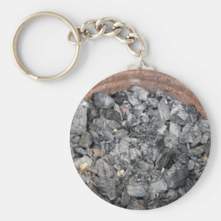 Pail of charcoal keychain