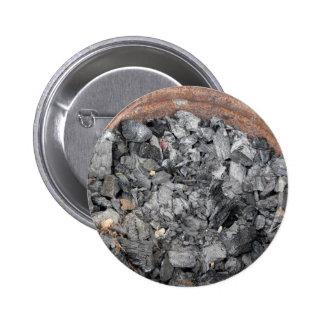 Pail of charcoal pinback button