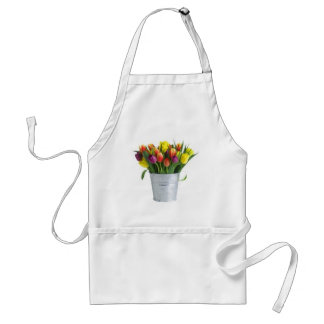 pail of tulips adult apron