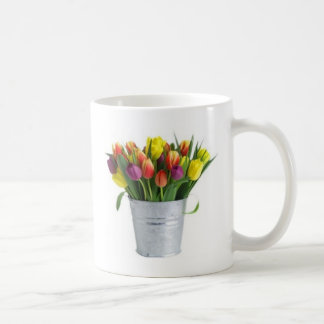 pail of tulips coffee mug
