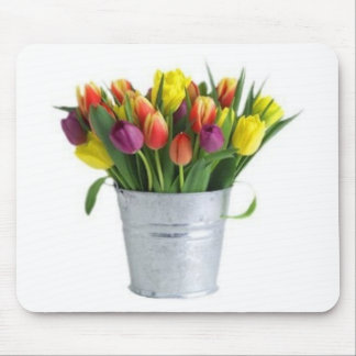 pail of tulips mouse pad
