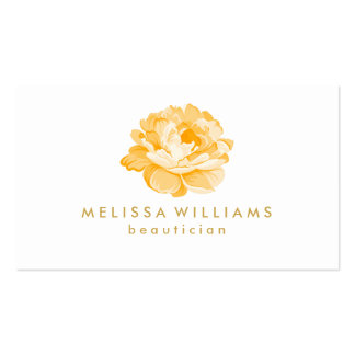 Pail Yellow Watercolor Illustration On White Business Card