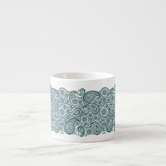 Pailey Ribbon Waves in Blue-Green - Espresso Mug