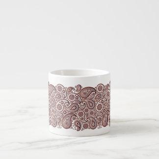 Pailey Ribbon Waves in Deep Red - Espresso Mug