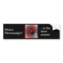 Pain 24/7 bumper sticker
