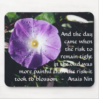Pain and Risk - Anais Nin - mousepad