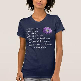 Pain and Risk - Anais Nin - shirt