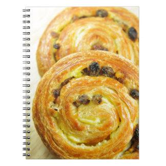Pain au raisins note book