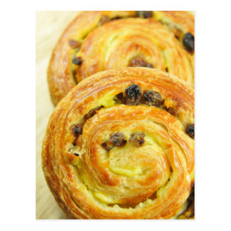 Pain au raisins postcard