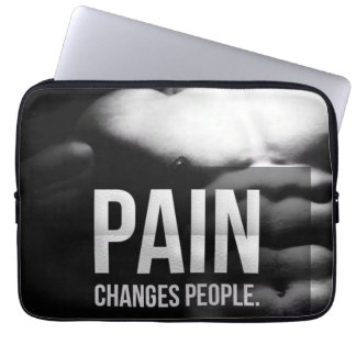 Pain Changes People - Workout Motivational Laptop Sleeve