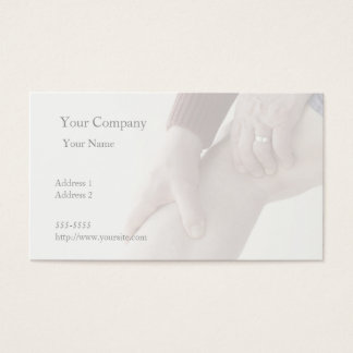 pain in back of leg business card