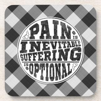 Pain is Inevitable Hockey Coasters