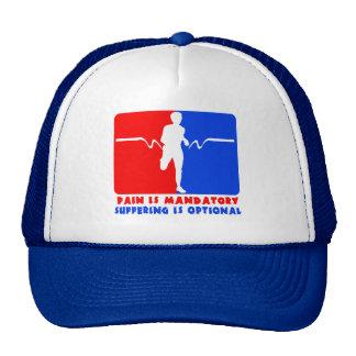 Pain is Mandatory, Suffering is Optional Running T Trucker Hat